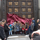 The North Door is back - Frilli Gallery casting the replicas to the North Door of the Florence Baptistery by Lorenzo Ghiberti - Florence, Santa Maria del Fiore square - Florence Baptistery