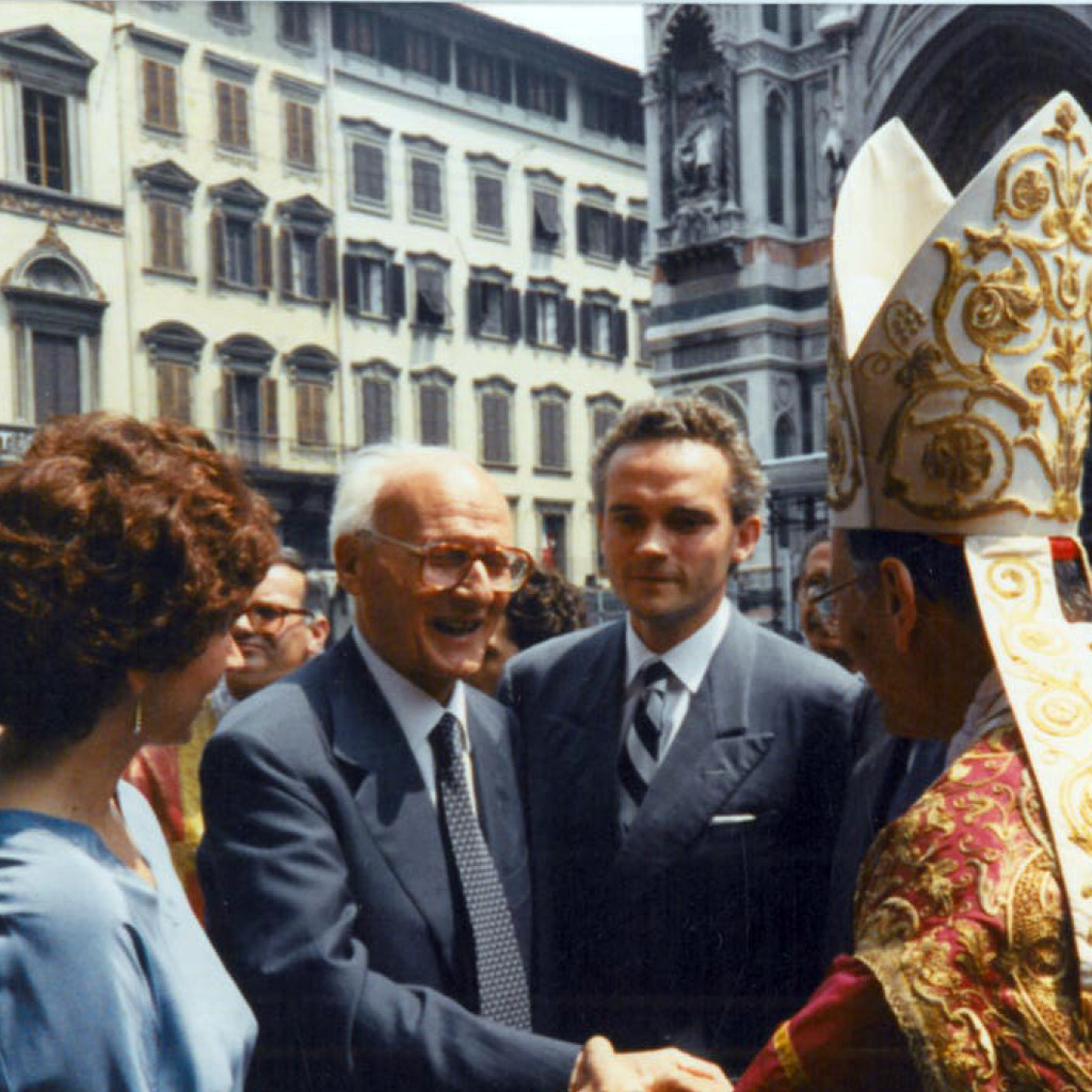 The Marinellis at the inaguration of the Gates of Paradise Replica at the Baptistery iwth Archbishop Piovannelli - May 1990