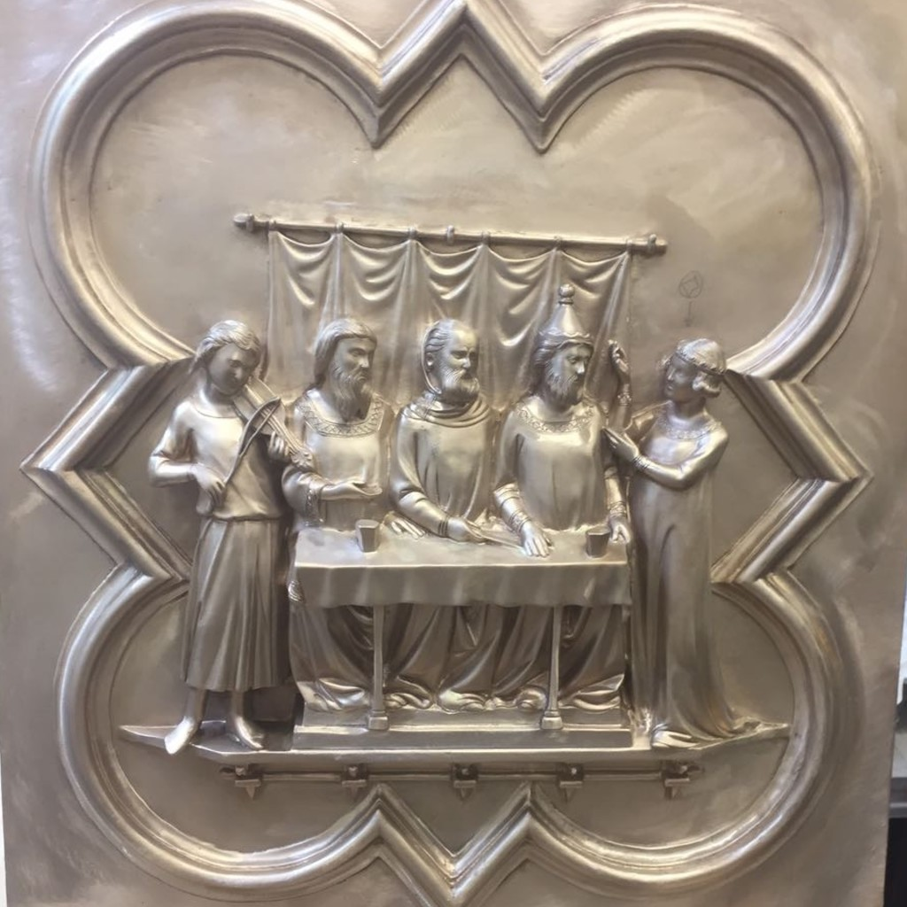 Bronze casting of the a panel replica from the South Door for the Florence Baptistery