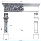 the departing point - the scaled down drawing of a fireplace