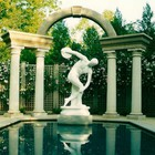 Discus Thrower - hand carved white Carrara marble - Private residence, Maryland, Usa