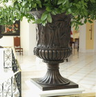 Medici Vase and Borghese Vase - lost wax bronze casting - Yetman Hotel, Lisbon, Portugal