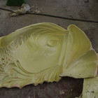 The silicon mold for the head of the fish