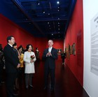 The inauguration ceremony of the exhibtion