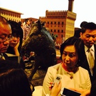Mrs. Pansy Ho, CEO of MGM China Holdings Limited, interviewed behind the wildboar
