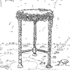 Sketch of the Della Robbia Table by Frances Lansing