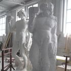 At the Marble Studio - A replica of the Bacchus by Michelangelo being carved next to its gypsum model